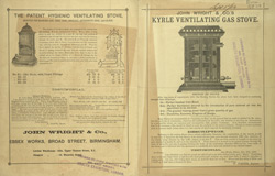 Advert for John Wright & Son's Kyrle Ventilating Gas Stove
